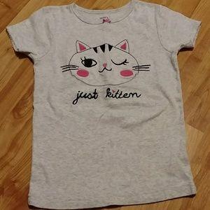 Girls kitty tee